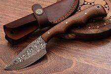 "Beautiful Handmade Damascus Skinner Hunting Knife ""Walnut Wood Handle""(HKPB23)"