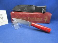"Muela ""Nicker"" Knife With Rosewood Handles & Leather Sheath Mint In Box - 11 RE"