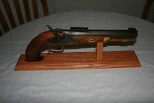 "18"" Solid Oak Hawken Single Shot Black Powder Pistol Display Stand"