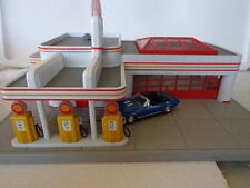 RAIL KING MTH O-027 OPERATING SHELL GAS STATION WITH CAMARO