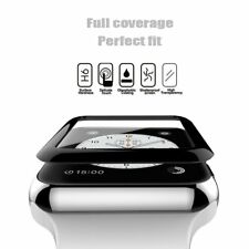 FULL COVERAGE TEMPERED GLASS Screen Protector For Apple Watch 42mm Series 1 2 3