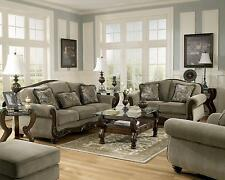 Exceptional Ashley Traditional Sofa, LoveSeat, Chair U0026 Ottoman 4 Piece Living Room Set
