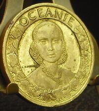Médaille Exposition coloniale Paris 1931 Océane Pagode par Mouroux 1931 Medal 铜牌