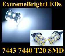TWO HID WHITE SMD 7440 7443 LED Backup Lights #8A