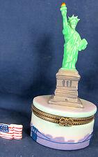 Lady Liberty on Ellis Island NY ceramic trinket box
