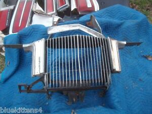 1973 MERCURY COUGAR GRILL FRONT TOP TRIM PITTING CRACKED OEM