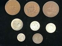 Mixed batch of 8 South African coins Some high grades and silver.