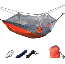 Tree Swing Hammock Mosquito Net Top Portable Strong Outdoor Jungle Camp Military