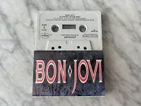 Bon Jovi Slippery When Wet CASSETTE Tape 1986 Mercury Livin' On A Prayer RARE!