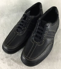 Clarks Sherwin Way Men's Casual Oxfords Shoes Black Leather Laced Size 9 M New!