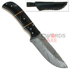 Rebel Wolf Magnum Wallop Damascus Steel Extra Thick Bowie Knife Full Tang