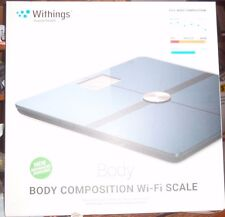 Withings #WBS05-BLACK Wi-Fi Smart Multi-User Body Scale Body Composition&Weight