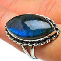 Large Labradorite 925 Sterling Silver Ring Size 7.75 Ana Co Jewelry R33085F