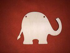 10 x medium ELEPHANT PLAQUES SHAPES UNPAINTED WOODEN HANGING DOOR  CRAFT PLAQUE