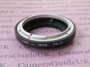 FD-AI Mount Adapter Ring For Canon FD Lens To Nikon D850 D750 D810A D810 D800