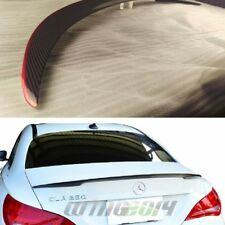 CARBON FIBER+RED LINE MERCEDES BENZ W117 C117 REAR TRUNK SPOILER CLA45 CLA180