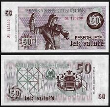 ALBANIA 1992 - BANKNOTE 50 LEK VALUTE WITH NUMBER - UNC VERY RARE
