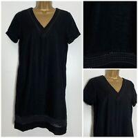 Next Black Linen Blend Pocket Shift Dress 10-24 Reg,Petite & Tall  (n-85h)