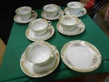 """NORITAKE """"Occupied Japan"""" M China- 5 CUPS & SAUCERS Extra Cup & 2 FREE Saucers"""