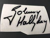 STICKER SIGNATURE JOHNNY HALLYDAY AUTO MOTO CASQUE VELO SCOOTER QUAD TUNING AUTO