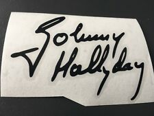STICKER SIGNATURE JOHNNY HALLYDAY AUTO MOTO CASQUE VELO SCOOTER QUAD TUNING AUTO