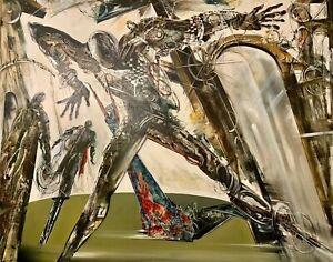 Vladimir Vitkovsky Invisible World Figures Surrealism Oil Painting 48x56