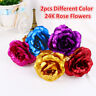 24K Gold Plated Flower Valentine's Day Birthday Romantic Golden Rose Without Box