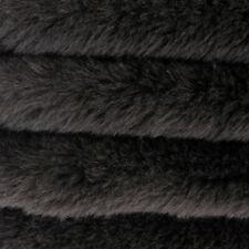 "1/4 yd ALP4S Black INTERCAL 1"" Straight Dense German made Alpaca Fur Fabric"