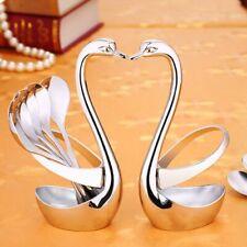 Tableware Stand Fruit Swan Forks Shaped Base Knife Spoon Fork Holder Storager