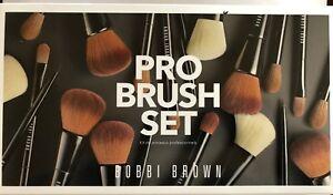 New Bobbi Brown Pro Brush 4 piece set with black brush case Value $253