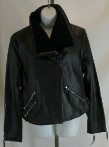 Christian Reed Genuine Leather Jackets New with Tags Women's Black Retail $249