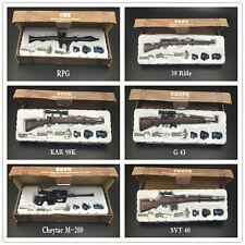 6pcs/set 1/6 Scale Battle GUN WWII Weapon Model G43 SVT RPG M200 KAR98K 38Rifle