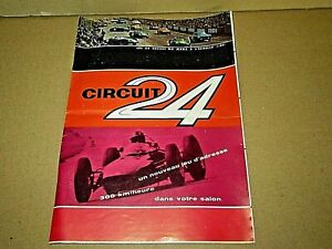 435Q 1963'S Circuit 24 Slot Car Folding & Tariff 8 Pages 7 1/8X9 13/16in + Stamp