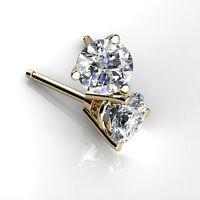 Hallmarked 14K Gold Earring Stud 0.50 ct Diamond Earrings Stud Women Jewelry FHY