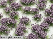 6mm Realistic Self-Adhesive Flowering Tufts - Wild Spring - English Lavender