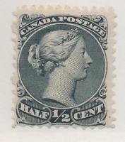 Canada Stamp Scott #21, Mint Lightly Hinged, Original Gum, Great Color