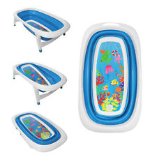 Baby Bath Time Foldable Splash & Play Sea Life Design Transportable BathTub
