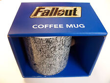 FALLOUT 3 VAULT BOY TEC WHITE CERAMIC MUG CUP VEGAS SOLD OUT !