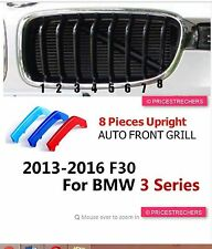 M-Stripe 8Slats Kidney Grille 3Colour Cover Clips BMW 3 Series F30 F31 2013-2017