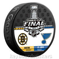 St. Louis Blues vs Boston Bruins 2019 Stanley Cup Final Dueling Hockey Puck