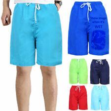 Men's Fast Dry Swimsuit Mesh Liner with Pocket Swimwear Shorts Solid Swim Trunks