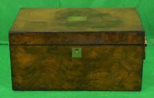 Antique Burlwood Maple Cigar Humidor w/ Tray
