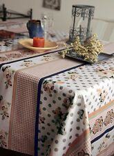 Large Floral Tablecloth 100% cotton Table Linen 160x200cm Quality product