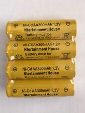 4-pcs1.2v AA (300mAh) Ni-Cd Rechargeable Battery For Solar Light