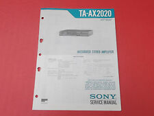 Sony ta-ax2020 Amplifier Amplificateur org. service INSTRUCTIONS MANUAL