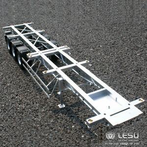 Metal LESU 40 Feet Container Trailer for 1/14 TAMIYA RC Model Car DIY Tractor