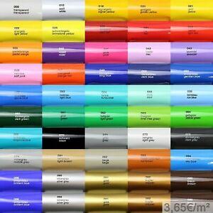 3,65€/m² Oracal 621 5m Plotterfolie Glanz Folie Klebefolie auch als Möbelfolie