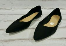 New Look black suede flat shoes size 5