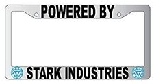 Chrome License Frame Powered By Stark Industries