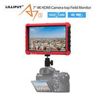 Lilliput A7s 17.8cm IPS 4K Kamera Feld Monitor HDMI 1920x1200 Für DSLR Camcorder